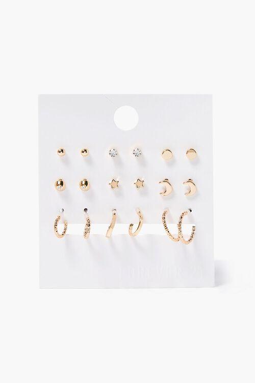 Celestial Hoop & Stud Earring Set, image 1