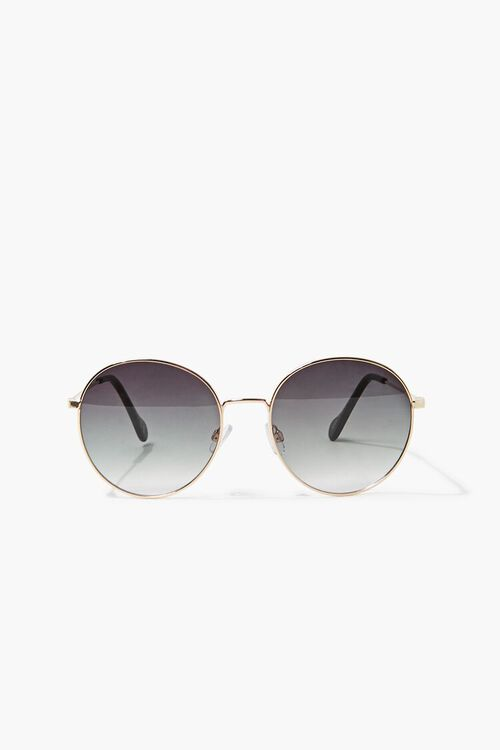 Round Ombre Metal Sunglasses, image 1