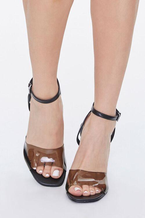 BLACK Semi-Transparent Stiletto Heels, image 4