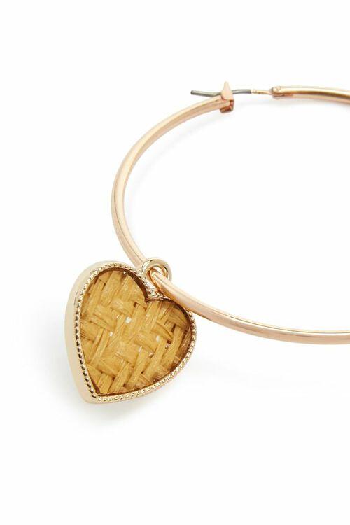 Heart Hoop Earrings, image 3