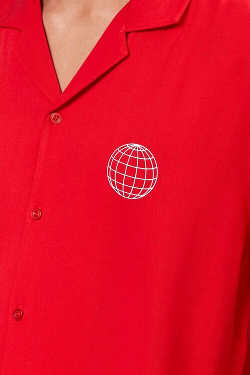 RED/WHITE Classic Fit Worldwide Shirt, image 5