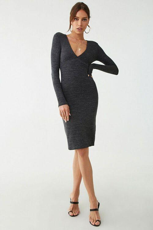 Marled Long Sleeve Mini Dress, image 5