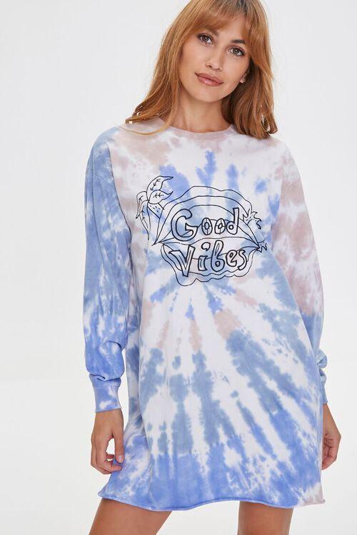 Good Vibes Tie-Dye Dress, image 1
