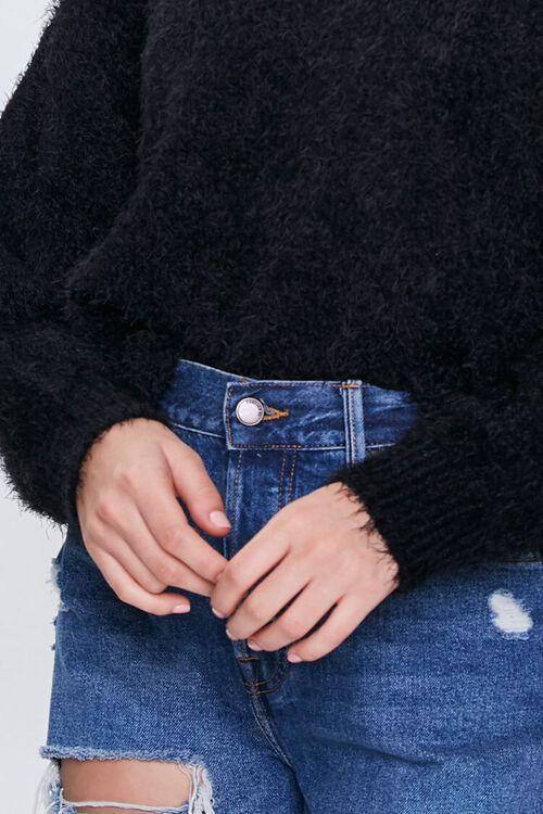 Fuzzy Knit Drop-Sleeve Sweater, image 5
