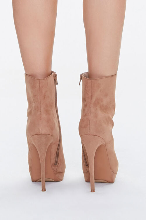 Faux Suede Stiletto Booties, image 3