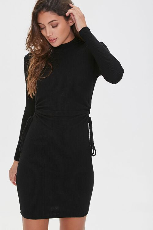 Ribbed Cutout Mini Dress, image 2
