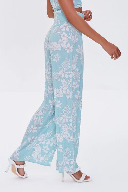 Tropical Floral Print Pants, image 3