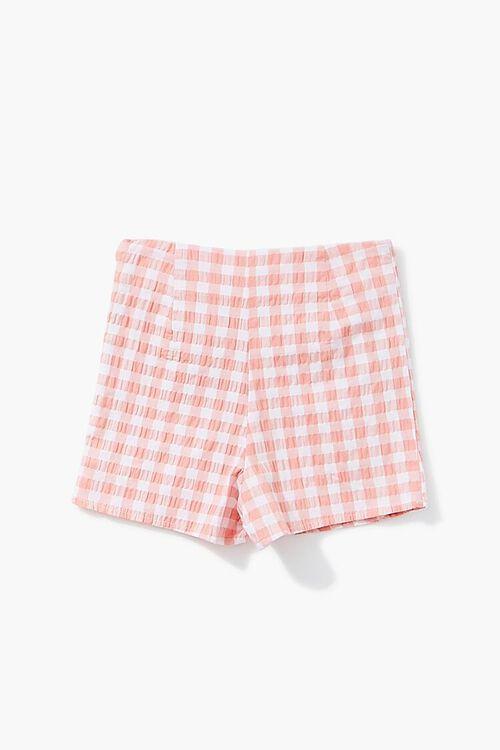 Girls Gingham Button-Front Skort (Kids), image 2