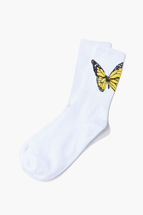 Butterfly Graphic Crew Socks, image 1