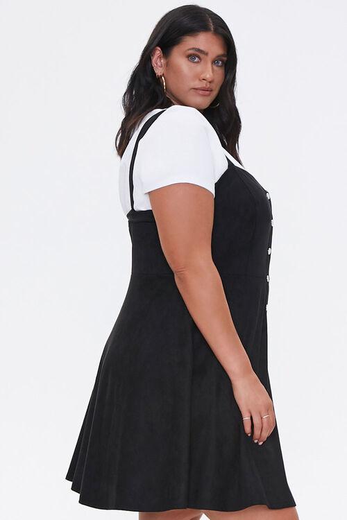 Plus Size Pinafore Mini Dress, image 2