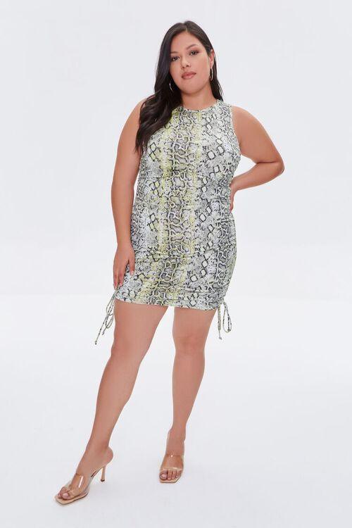 Plus Size Snakeskin Print Bodycon Dress, image 4