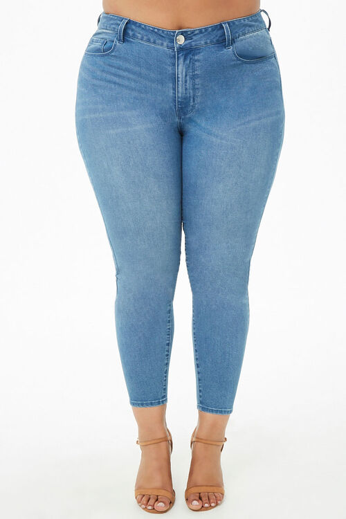 Plus Size Sculpted Mid-Rise Skinny Jeans, image 2