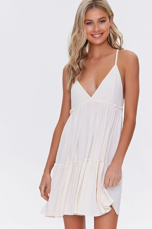 Tiered Fit & Flare Cami Dress, image 1