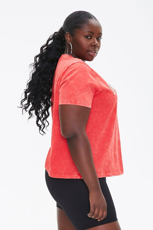 RED/MULTI Plus Size Fierce Graphic Tee, image 2