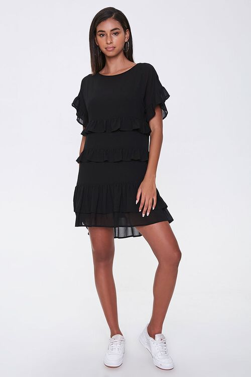 Tiered Ruffle Mini Dress, image 4