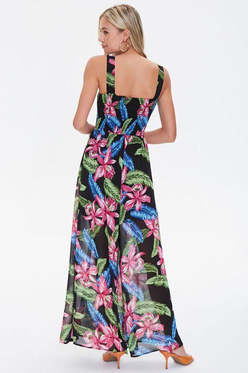 Tropical Print Wide-Leg Jumpsuit, image 3