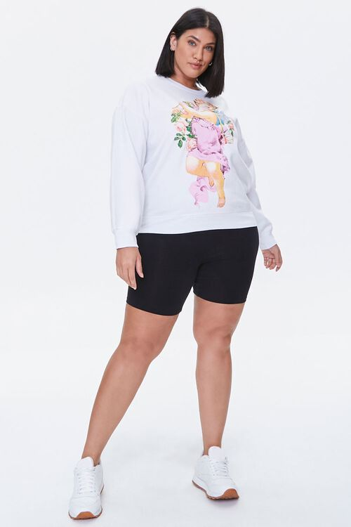 Plus Size Angel Graphic Pullover, image 4