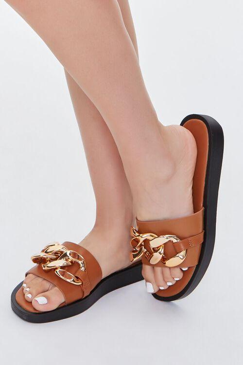 Curb Chain Slip-On Wedges, image 1