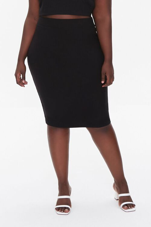 Plus Size Cropped Cami & Pencil Skirt Set, image 5