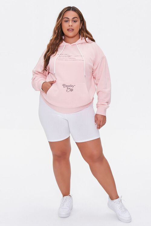 PINK/BROWN Plus Size Equality For All Hoodie, image 4