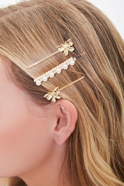 GOLD Butterfly Charm Bobby Pin Set, image 1