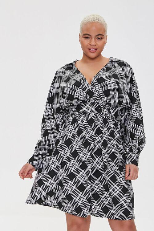 Plus Size Plaid Wrap Dress, image 1