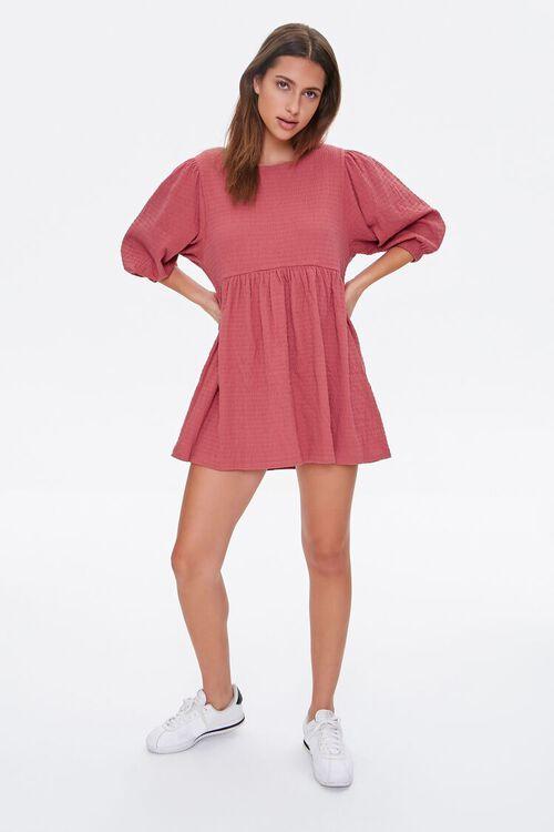 Textured Knit Mini Dress, image 4