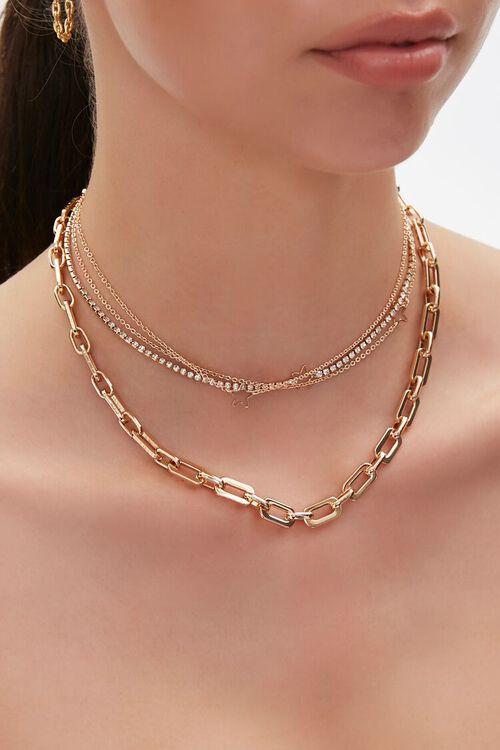 Cutout Star Charm Layered Choker Necklace, image 1