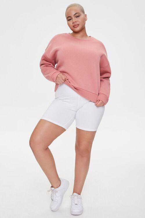 Plus Size Fleece Crew Neck Sweatshirt, image 4