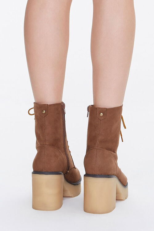 Lace-Up Block Heel Boots, image 3
