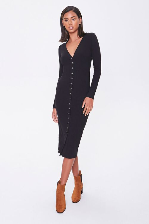 Button-Front Midi Dress, image 4