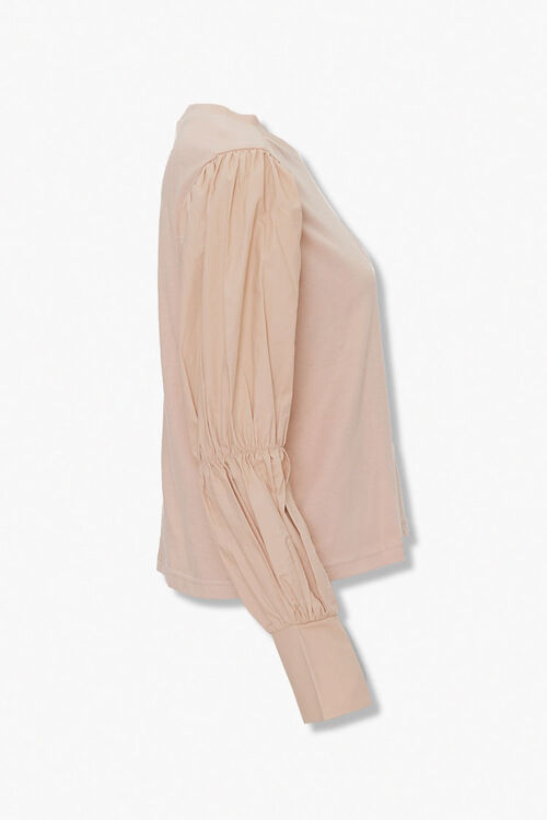 Long Pleated-Sleeve Top, image 2