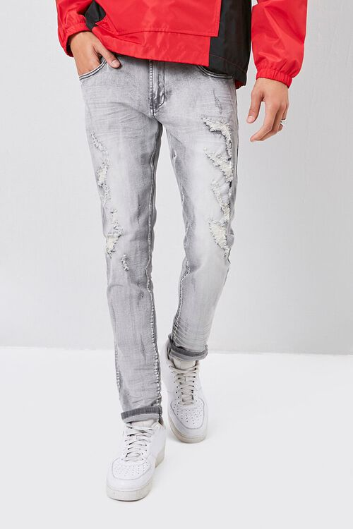 Xray Distressed Skinny Jeans, image 2