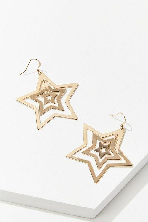 GOLD Cutout Star Drop Earrings, image 1