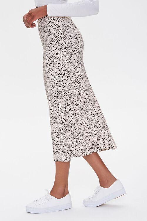 Spotted Print Midi Skirt, image 3