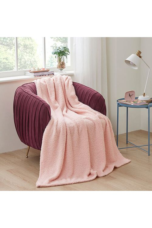 Faux Shearling Throw Blanket, image 1