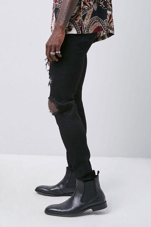 Rhinestone Distressed Slim-Fit Jeans, image 2