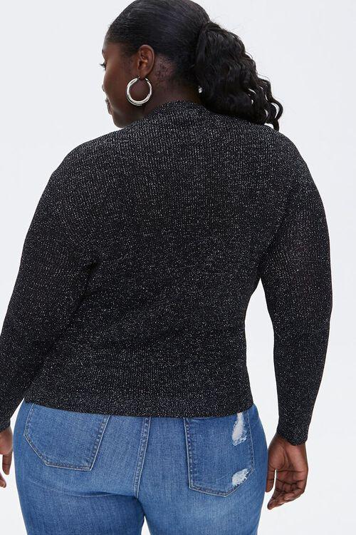 Plus Size Glitter Sweater-Knit Top, image 3