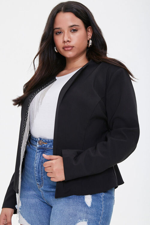Plus Size Ball-Chain Blazer, image 1