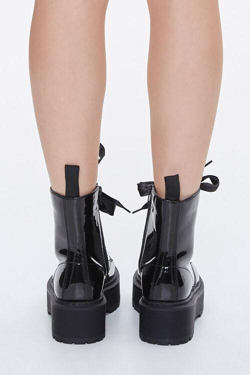 Faux Patent Leather Platform Ankle Boots, image 3