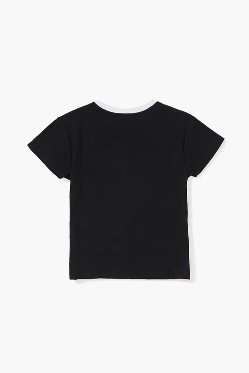 Girls Contrast Crew Neck Tee (Kids), image 2