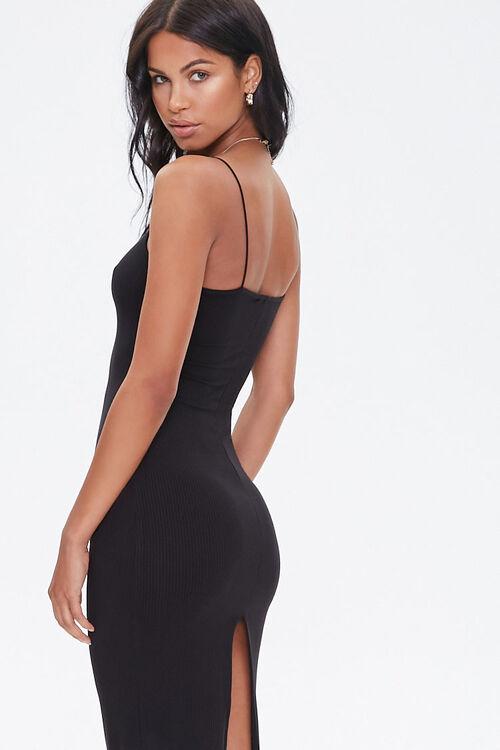 Ribbed Slit Midi Dress, image 1