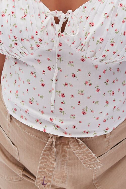 Plus Size Floral Sweetheart Top, image 5