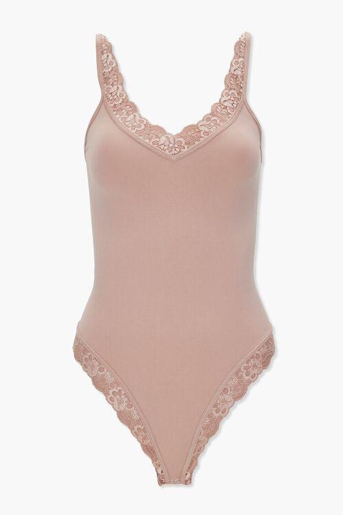 SAND Lace-Trim Lingerie Bodysuit, image 1