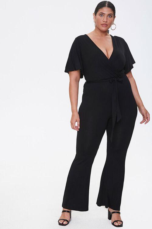 Plus Size Flare Wrap Jumpsuit, image 4