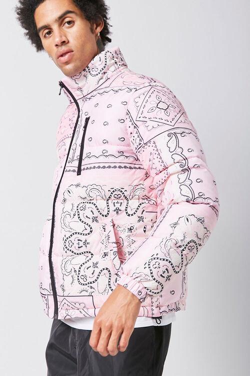 Bandana Print Puffer Jacket, image 2