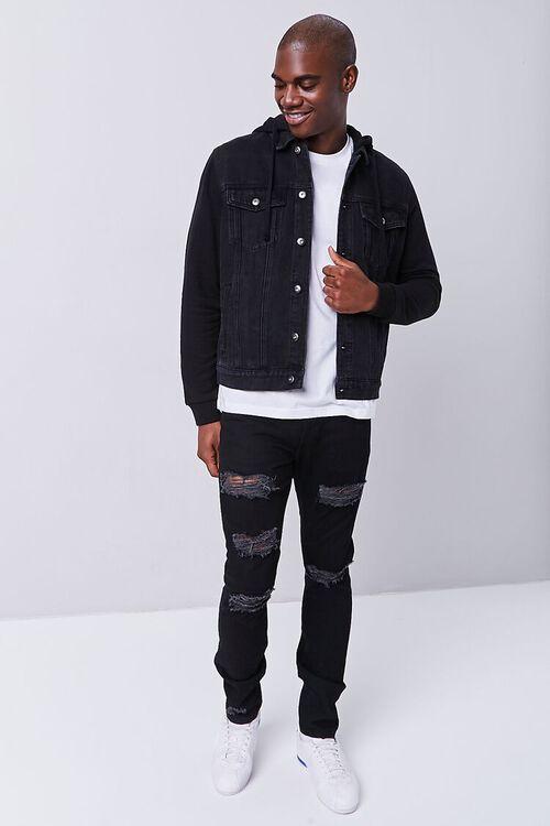 Contrast Hooded Denim Jacket, image 4