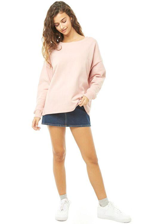 MAUVE/MAUVE Lace-Up Sweatshirt, image 5