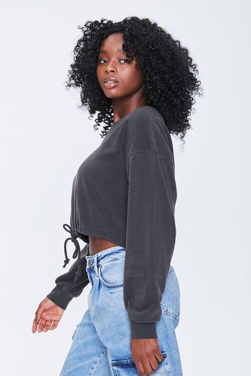 Boxy Self-Tie Drawstring Sweatshirt, image 2