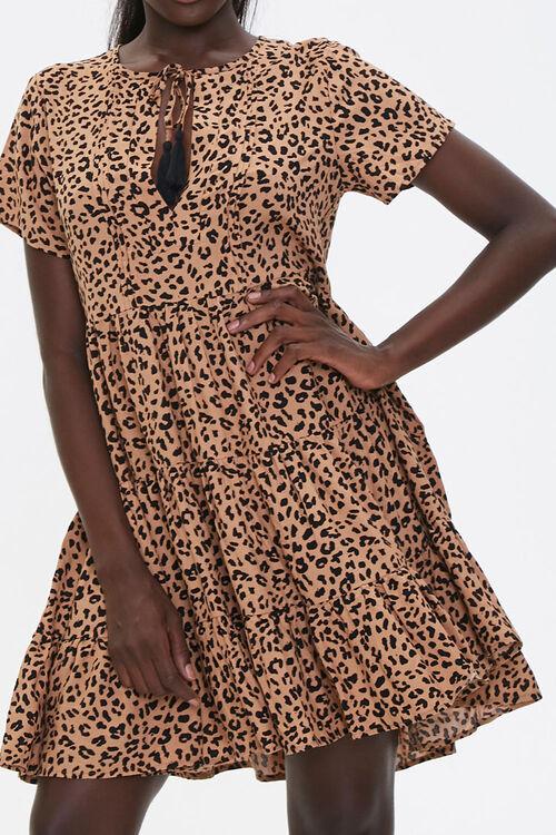 Sleeveless Cheetah Print Romper, image 1